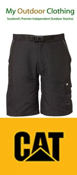 Caterpillar CAT C1820920 mens black work board shorts